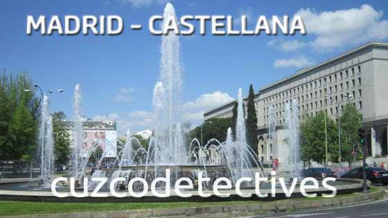 Detectives en el Paseo de la Castellana